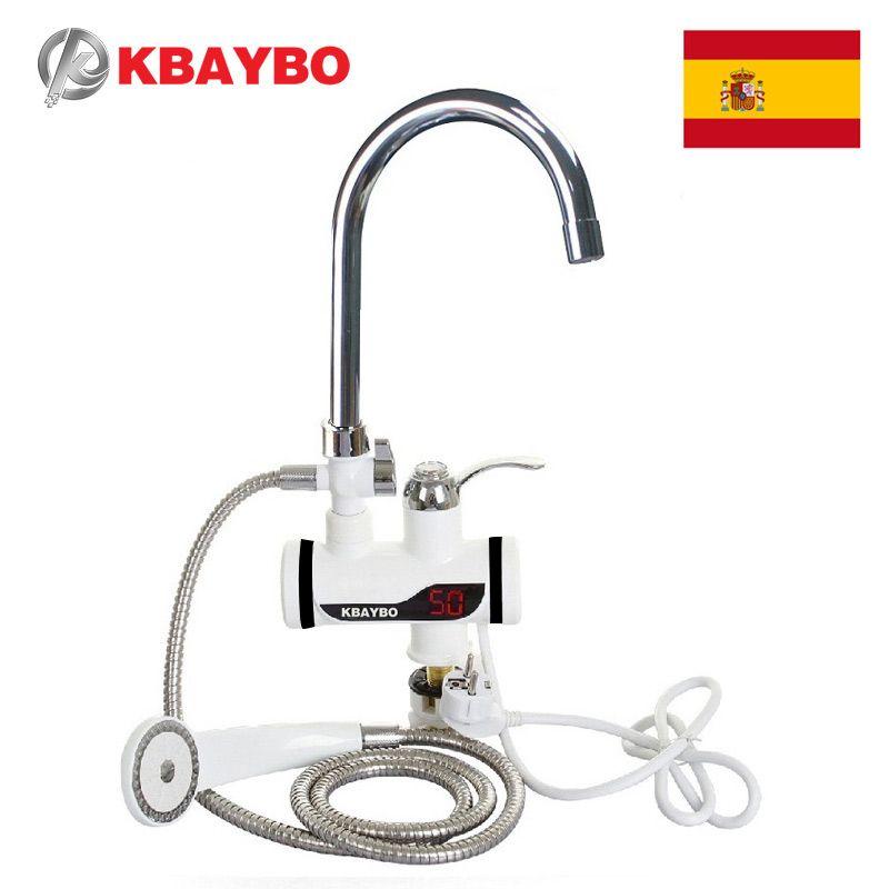 3000W électrique instantané chauffe-eau robinet douche chaude robinet cuisine chauffe-eau