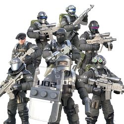 1:36 Scale Modern Military Solider Figure Toys Set S.D.U Army SWAT Action figures Team Model Combat Gun Game Toys For Boys Gift