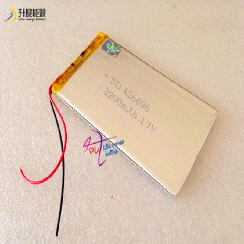 Batterie SD de batterie d'énergie de litre pour la batterie de comprimé 426696 3.7V 3200MAH 406595 li batterie de polymère
