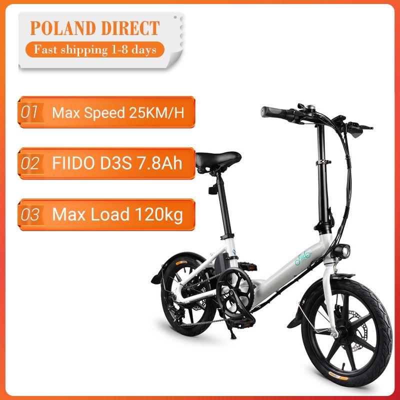 [EU Direkt] FIIDO D3S Verschiebung Version 36V 7.8Ah 300W 16 Zoll Klapp Moped Fahrrad 25 km/h Max 60KM Laufleistung Elektrische Fahrrad