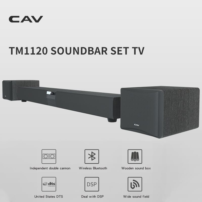 CAV TM1120 Soundbar Set TV Audio Heimkino Sound System 5,1 Subwoofer Lautsprecher DTS Surround Sound Wireless Bluetooth Lautsprecher