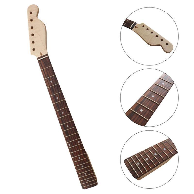 22 frettes érable guitare cou palissandre touche cou pour Fender Tele remplacement guitare accessoires pièces