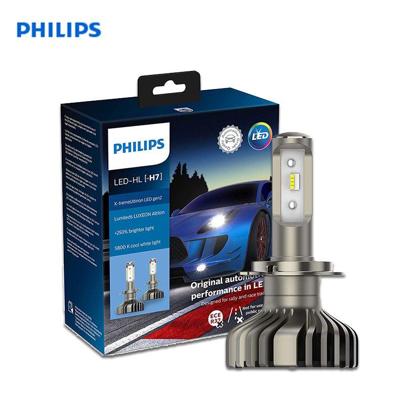 Philips 11972XUWX2 Auto Kopf Licht 2 PCs LED-HL H7 12V PX26d 5800K 25W X-tremeUltinon LED gen2 Lange Bereich in der nähe der licht