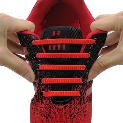 16 Pcs/set Lari No Dasi Tali Sepatu Fashion Unisex Athletic Elastis Silikon Sepatu Renda SEMUA Sepatu Cocok Tali N010