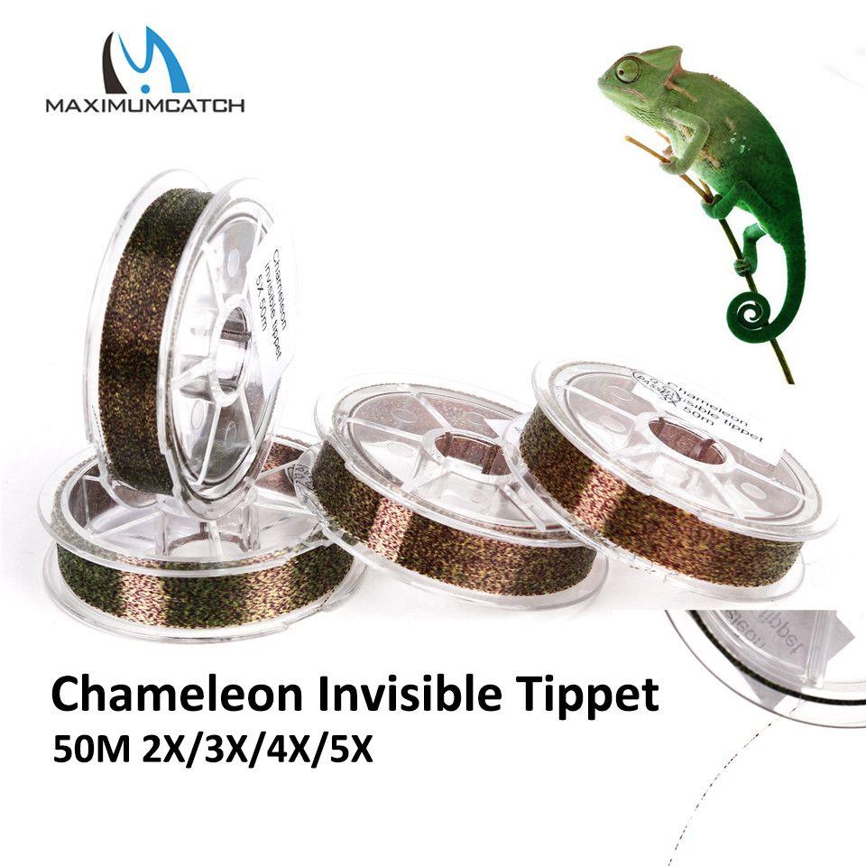 Maximumcatch caméléon Invisible Tippet ligne de pêche à la mouche 50M 2X/3X/4X/5X ligne de mouche
