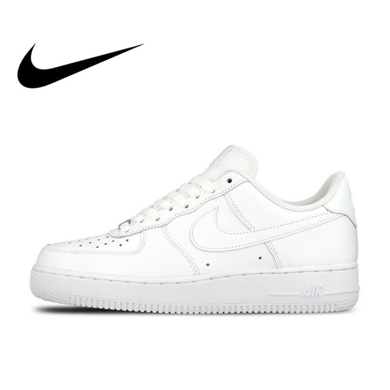 Original Official Nike AIR FORCE 1 AF1 Men Breathable Skateboarding Shoes Low-top Trainers Sports Flat Classic Outdoor Sneaker