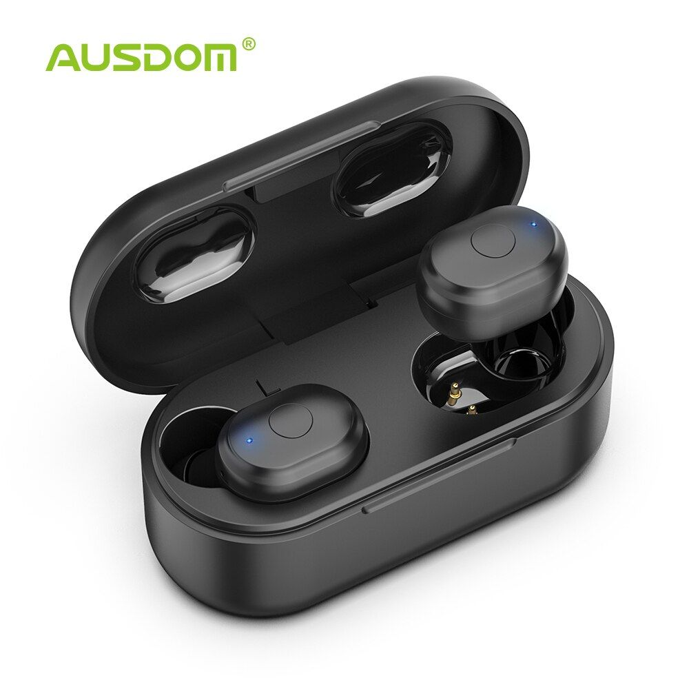 AUSDOM TW01 TWS Wireless Bluetooth Earphone 20H Play Time Wireless Headphone CVC8.0 Noise Cancelling Sport Earbuds With Dual Mic