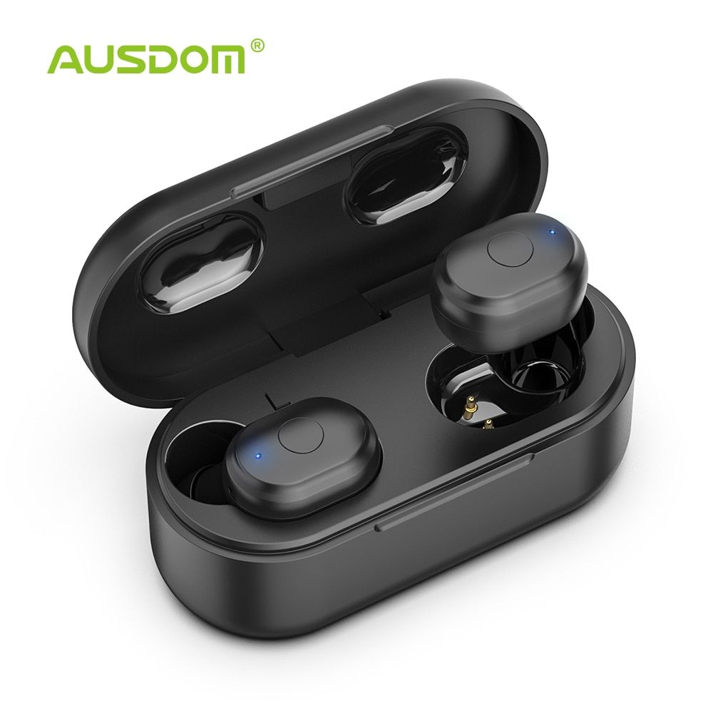 AUSDOM TW01 TWS sans fil Bluetooth écouteur 20H temps de jeu casque sans fil CVC8.0 suppression du bruit Sport écouteurs avec double micro