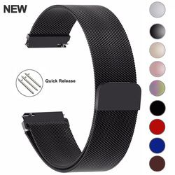 20mm 22mm 23mm Samsung Galaxy 42 46mm Watch Bands Straps Loop Milanese Strap Stainless Steel Active2 40 44 Gear S3 14 16 18 24mm