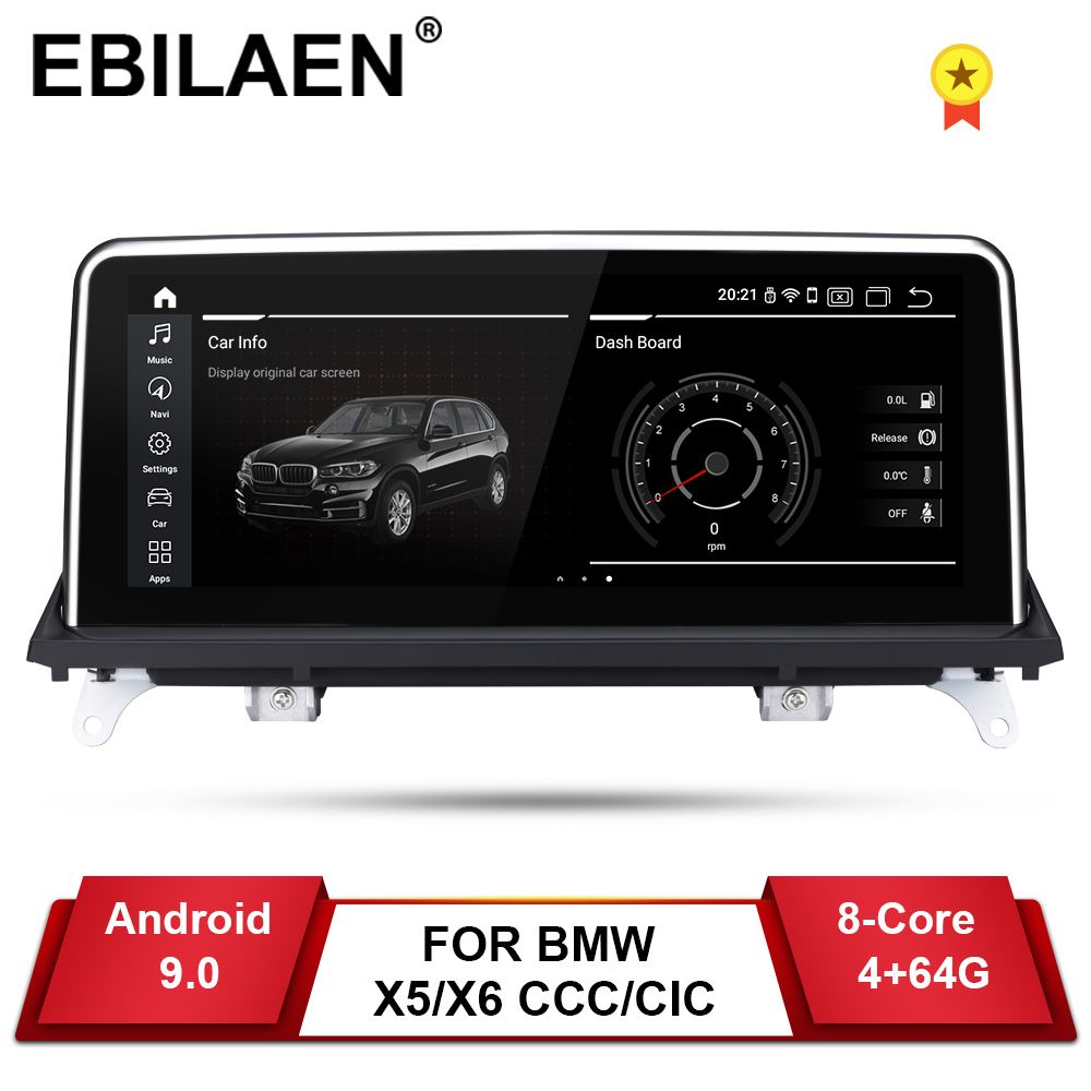 EBILAEN Android 9.0 Auto DVD Player für BMW X5 E70/X6 E71 (2007-2013) CCC/CIC System Einheit PC Navigation Auto Radio Multimedia IPS