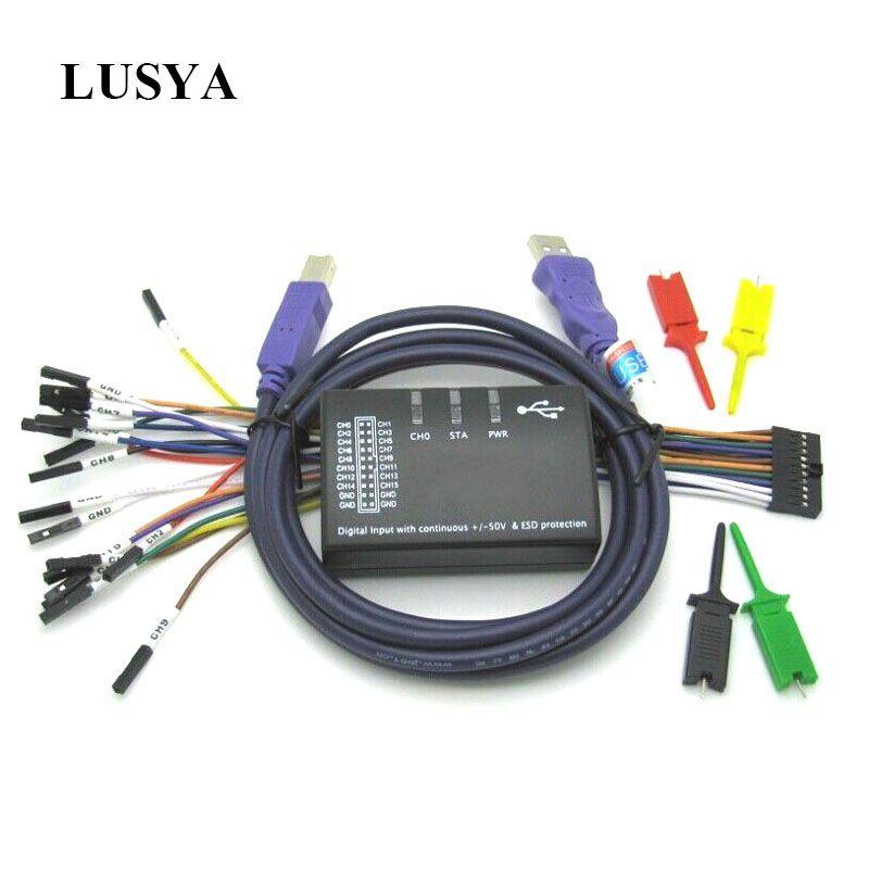 Lusya USB Logic 100MHz 16Ch Logic Analyzer für ARM FPGA E4-004