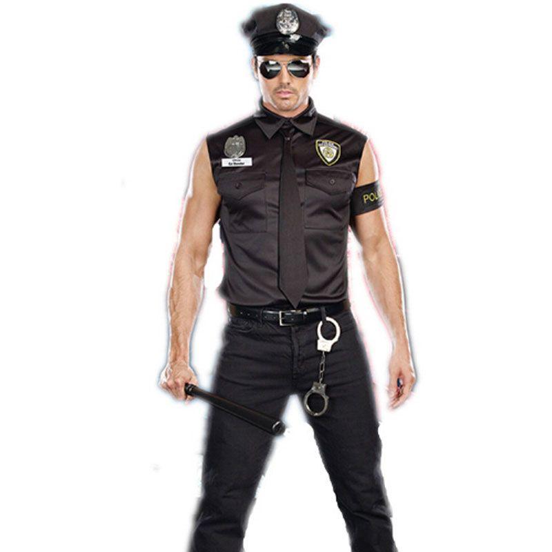 Umorden Halloween Costumes adulte amérique us Police sale flic officier Costume chemise haute fantaisie Cosplay vêtements pour hommes