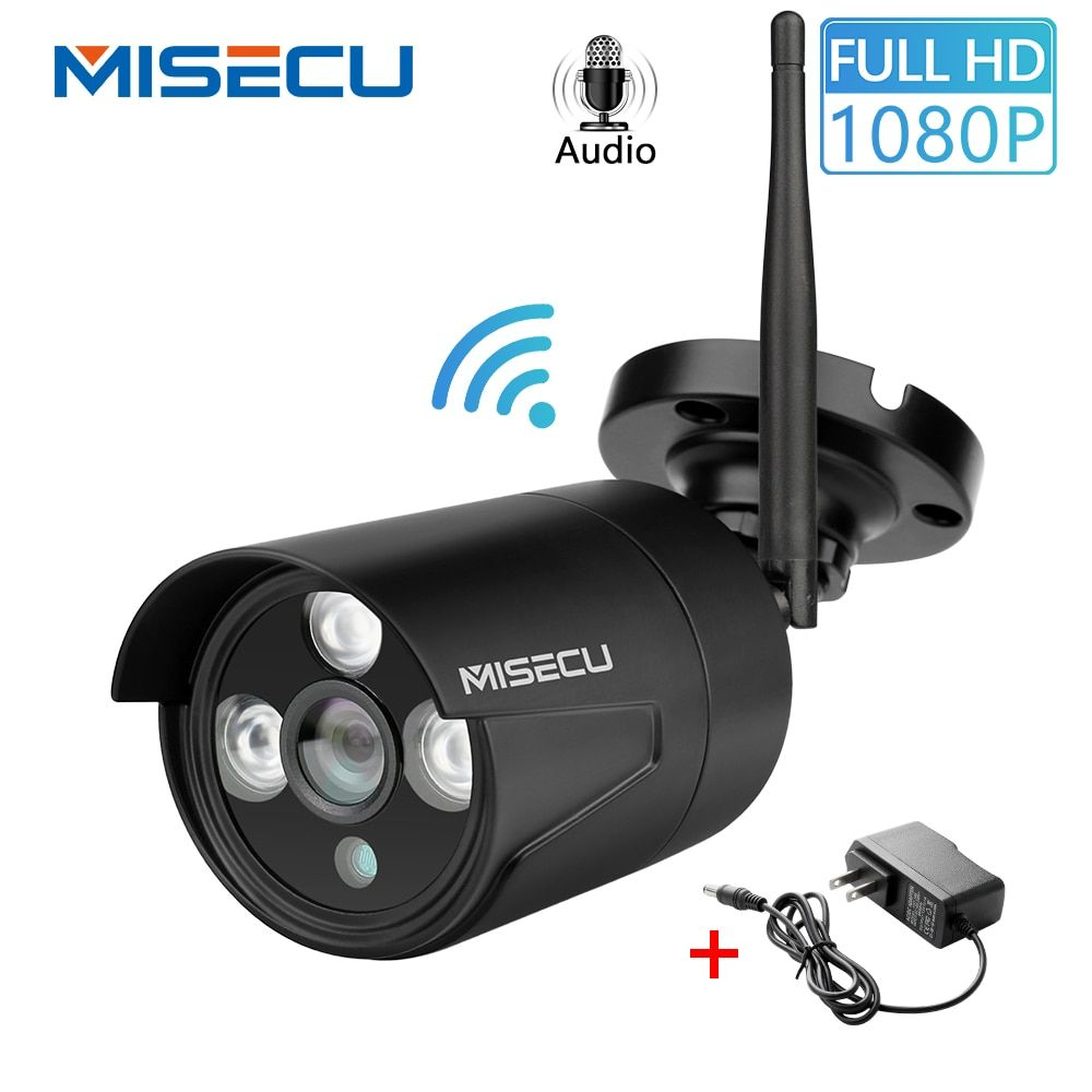 MISECU 1080P Home Security Wifi IP Audio Kamera Outdoor Wireless Mit MiscroSD SD Card Slot Onvif P2P E-mail Push nacht Vision