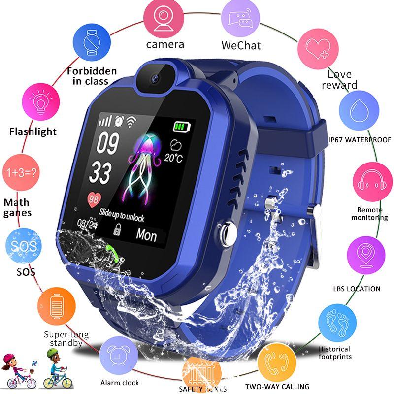 LIGE 2019 Neue Kind Smart Uhr IP67 Wasserdichte Kinder Student Smartwatch SOS Notruf LBS Positioning Tracker Kinder Uhr