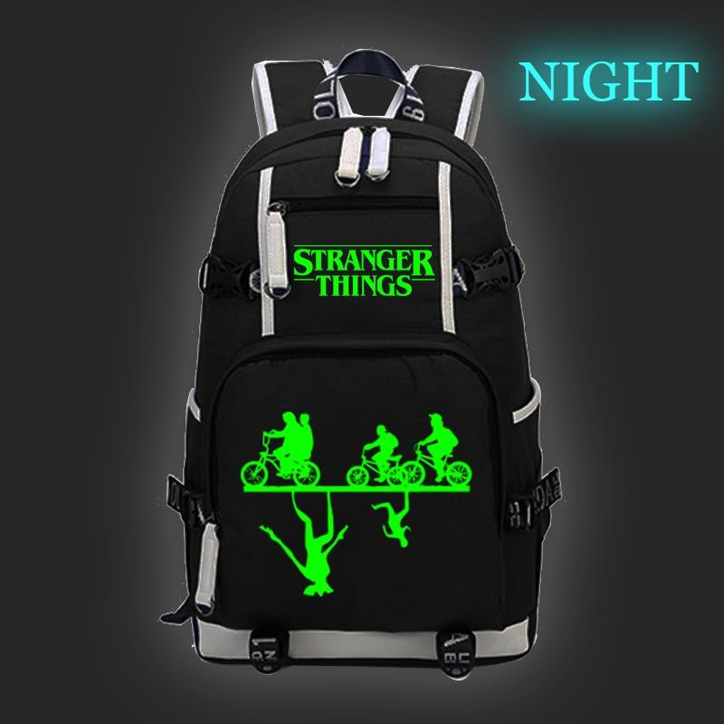 2019 Stranger Things Backpacks Boys Girls School Bags for Teenager Luminous Bookbag Outdoor Travel Laptop Backpack Sac A Dos