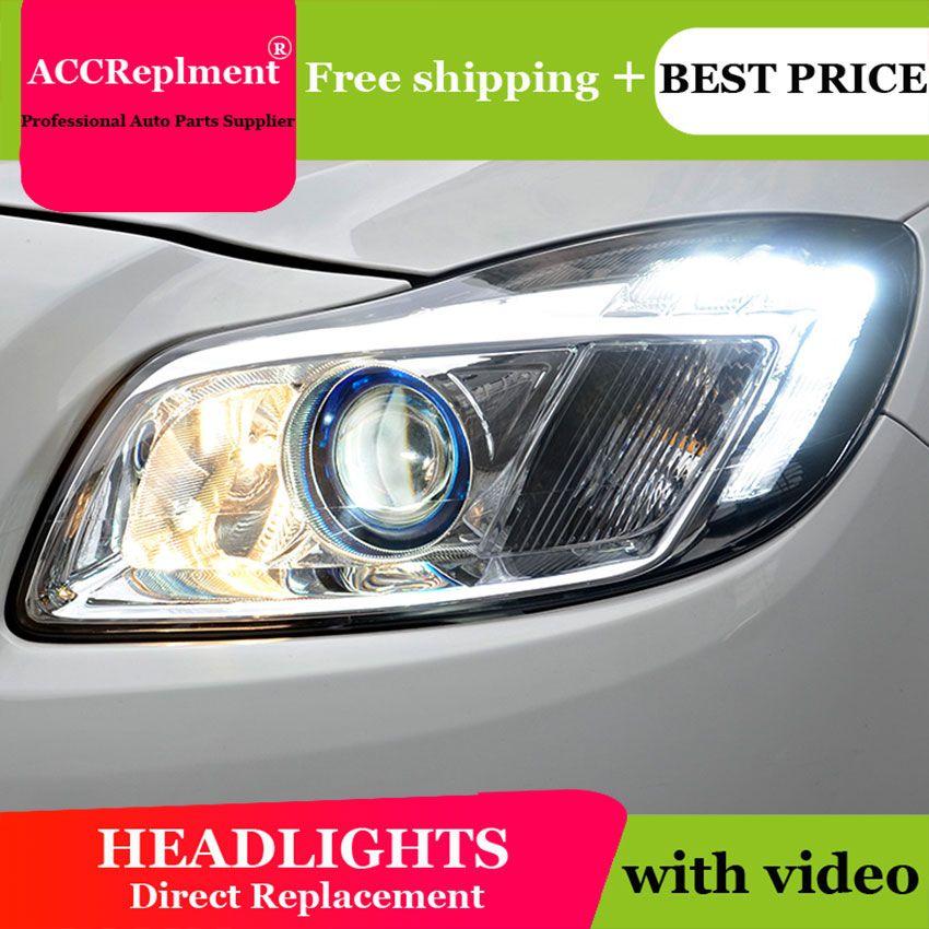 Auto Beleuchtung Stil LED Kopf Lampe für Buick regal led scheinwerfer 2009-2013 H7 hid Q5 Bi-Xenon objektiv engel auge abblendlicht