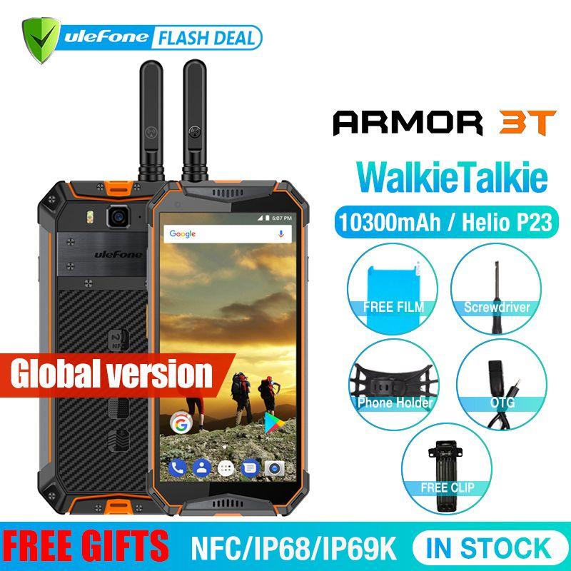 Ulefone Rüstung 3T IP68 Wasserdichte Handy Android 8.1 5,7 zoll 21MP helio P23 Octa Core NFC 10300mAh Walkie talkie Smartphone