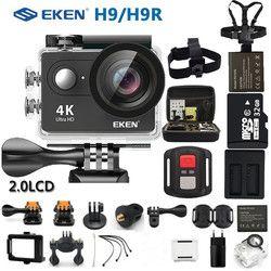 Eken Экшн-камера eken H9R/H9 Ultra HD 4K WiFi Пульт дистанционного управления спортивная видеокамера DVR DV Водонепроницаемая камера
