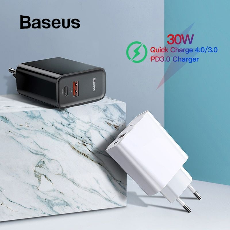 Chargeur rapide 4.0 3.0 USB Baseus Type C QC 4.0 3.0 chargeur pour Samsung s10 plus 18W PD 3.0 chargeur rapide pour iPhone 11 Pro