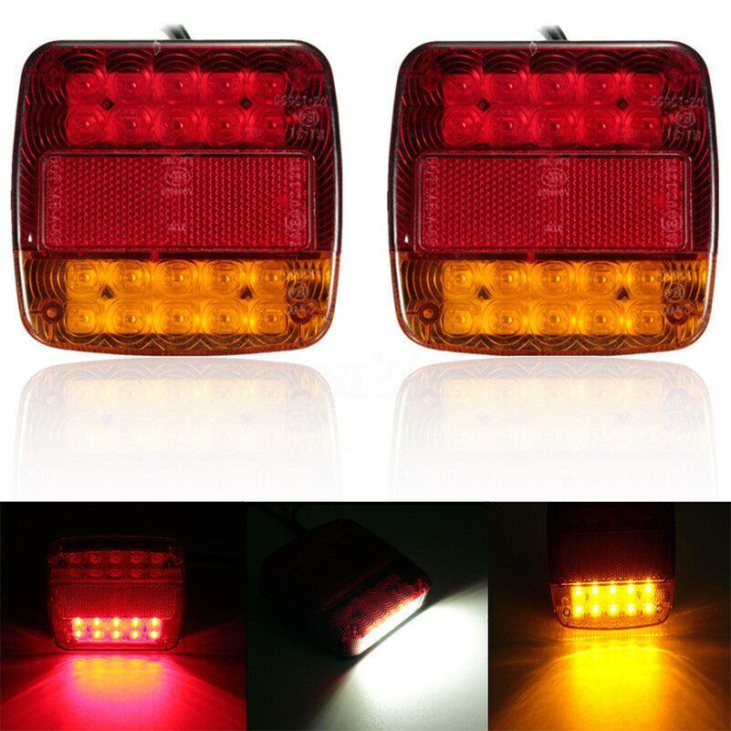 2 stücke Auto Lkw Anhänger 20 LEDs Rückleuchten Bremse Stoppen Blinker Licht LED Rücklicht 12V Super Helle e4 + E9 LED Schwanz Licht