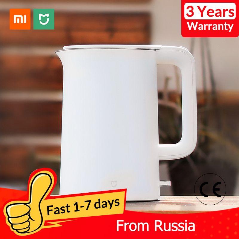 Original Xiaomi Mijia bouilloire électrique théière 1.5L Protection de mise hors tension automatique chaudière à eau théière chauffage instantané acier inoxydable