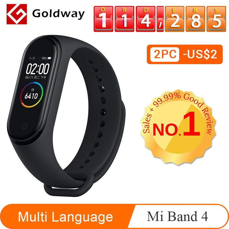 Xiao mi bande 4 Bracelet intelligent 3 couleurs AMOLED écran mi bande 4 Smartband Fitness Traker Bluetooth Sport bande intelligente étanche