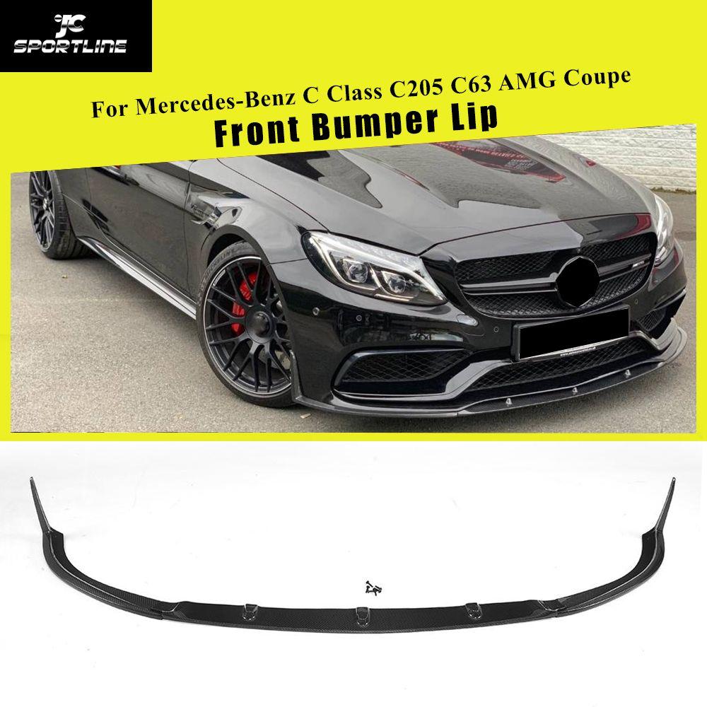 Front Lip Spoiler Splitter für Mercedes-Benz C Klasse W205 C205 C63 AMG Coupe 2 Tür 2015- 2019 Carbon Faser und FRP