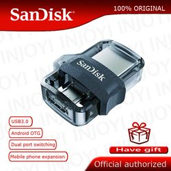 Original Sandisk SDDD3 Extreme high speed 150M/S PenDrive 32GB OTG USB3.0 128GB Dual OTG USB Flash Drive 64GB Pen Drive 16GB