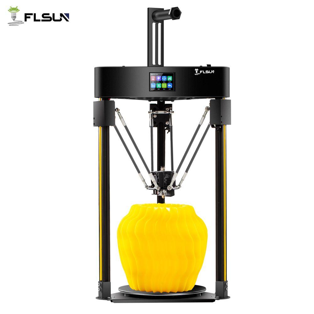 2019 3D Drucker Flsun Q5 Delta Auto-Level-Sensor Lebenslauf Pre-montage TFT 32bits bord Kossel Titan extruder Volle Metall Kit