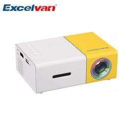 Excelvan YG300 Mini Portable Projector LCD Proyector HDMI USB AV SD 400-600 Lumen Theater Children Education Beamer Projetor