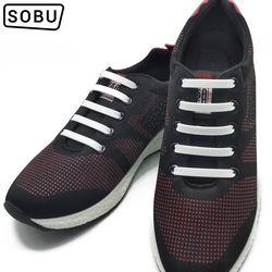 12 Pcs/Lot NEW Elastic Silicone Shoelaces No-Tie Silicone Shoelaces for All Sneaker Creative Shoe Laces For shoes woman/Men G001
