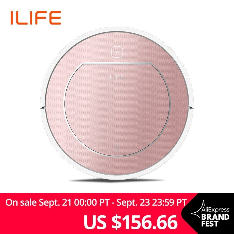 ILIFE V7s Plus Robot Vacuum Cleaner Sweep&Wet Mop Simultaneously For Hard Floors&Carpet Run 120mins before Automatically Charge