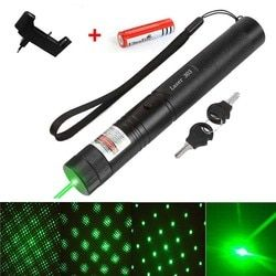 High powerful Green laser pointer 1000m 5mw lasers pen Hunting Rifle Scope Adjustable 3 in 1 lazer 303 Burning match