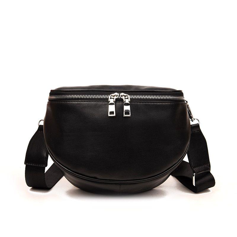 New Arrival Fashion Pure Color Women Leather Shell Messenger Shoulder Bag Bust Bag Crossbody Bag Money Phone Travel Women Chest