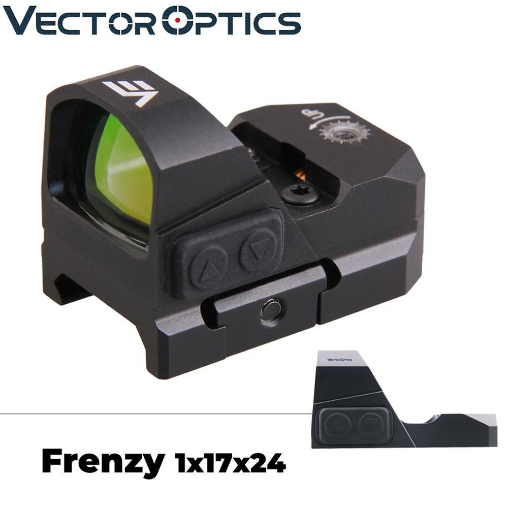 Vector Optics Frenzy 1x17x24 Red Dot Umfang Pistole Pistole Anblick IPX6 Wasser Proof Fit 21mm picatinny GLOCK 17 19 9mm AR15 M4 AK