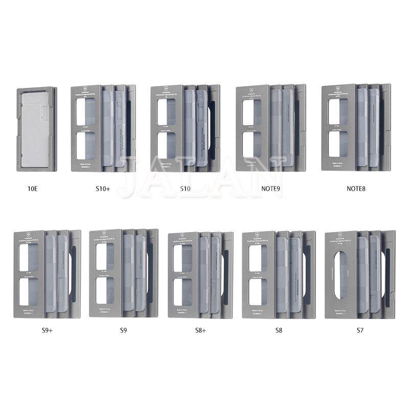 OCA Master neue laminieren form für S10 S10 + S10E G970 G975 G973 S9 HINWEIS 8/9 OCA Glas LCD ausrichtung form aus rahmen laminat matte