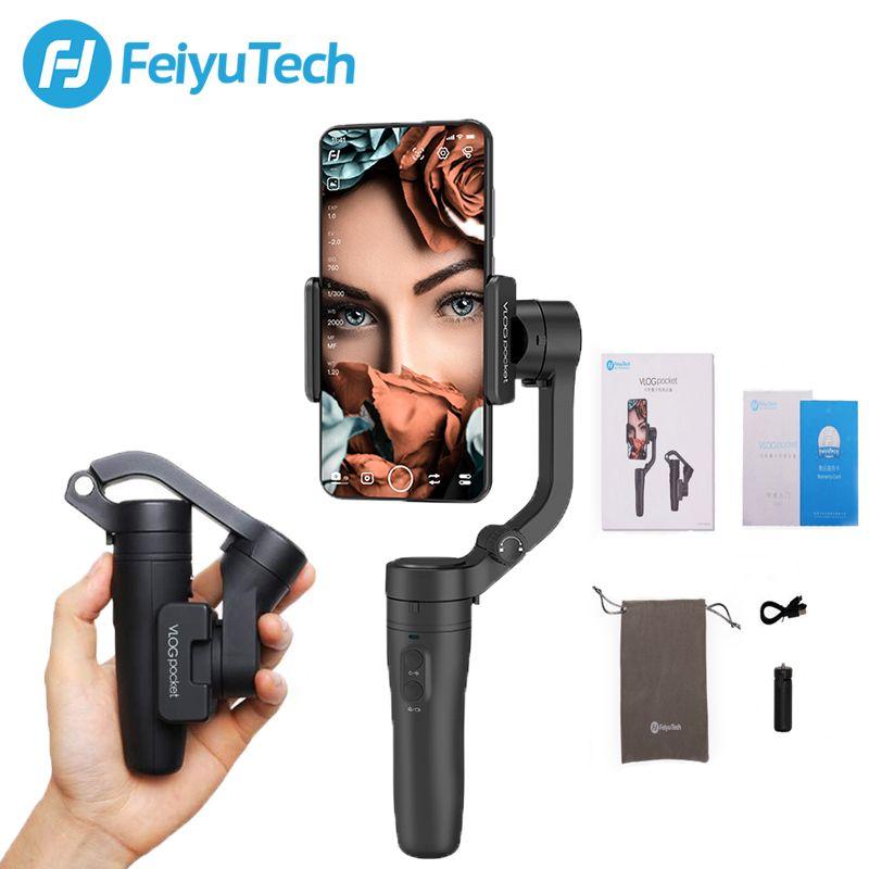 FeiyuTech Vlog Tasche MINI 3-Achse Handheld Smartphone Universal Stabilisator für iPhone Xs Max Xr X 8 Serie, HUAWEI P30 pro, MI 9
