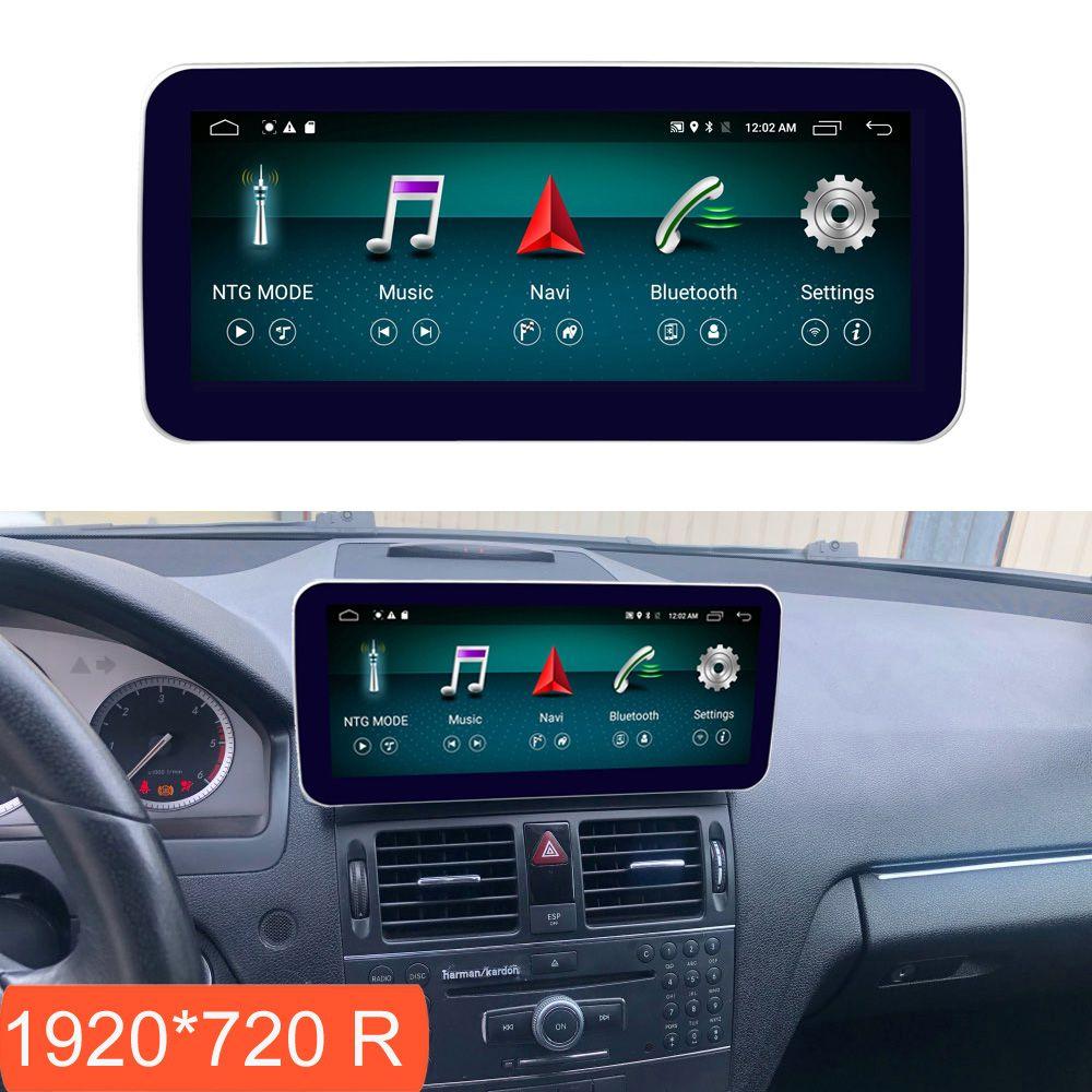 10,25 zoll 4 + 64G Android Display für Mercedes Benz C Klasse W204 2008-2010 Auto Radio Bildschirm GPS Navigation Bluetooth Touchscreen