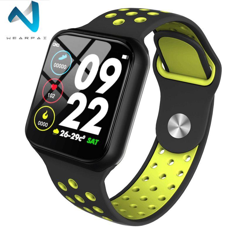 Wearpai nouvelle montre intelligente F8 moniteur de fréquence cardiaque étanche IP67 Fitness Tracker montre moniteur de sommeil pour IOS Android