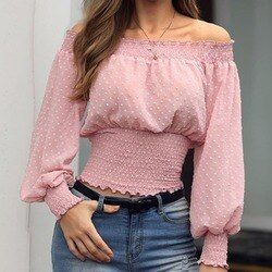Autumn New Fashion Tops for Women Off Shoulder Summer  Lace Blouse Shirt Female Crochet Chiffon Shirt Casual Tops