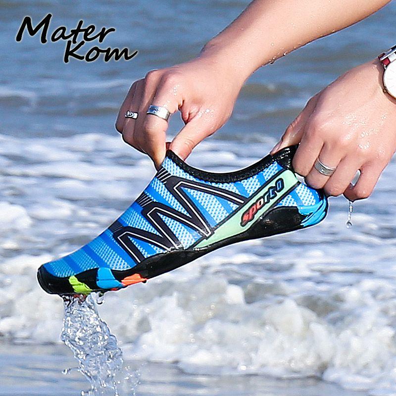 35-46 unisexe Sport Sandales Aqua Chaussures Hommes Plage L'eau Baskets Femmes Surf Natation/En Amont Sport Chaussures zapatos agua