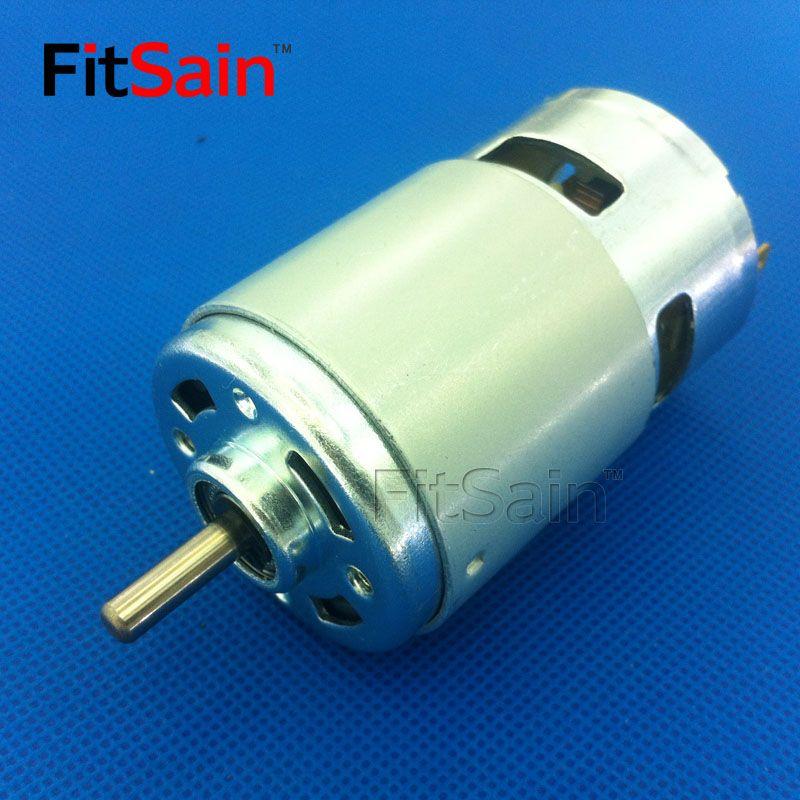 FitSain-DC 24V 8000 tr/min 775 arbre moteur 5mm grand couple haute puissance Double roulement à billes outil électrique