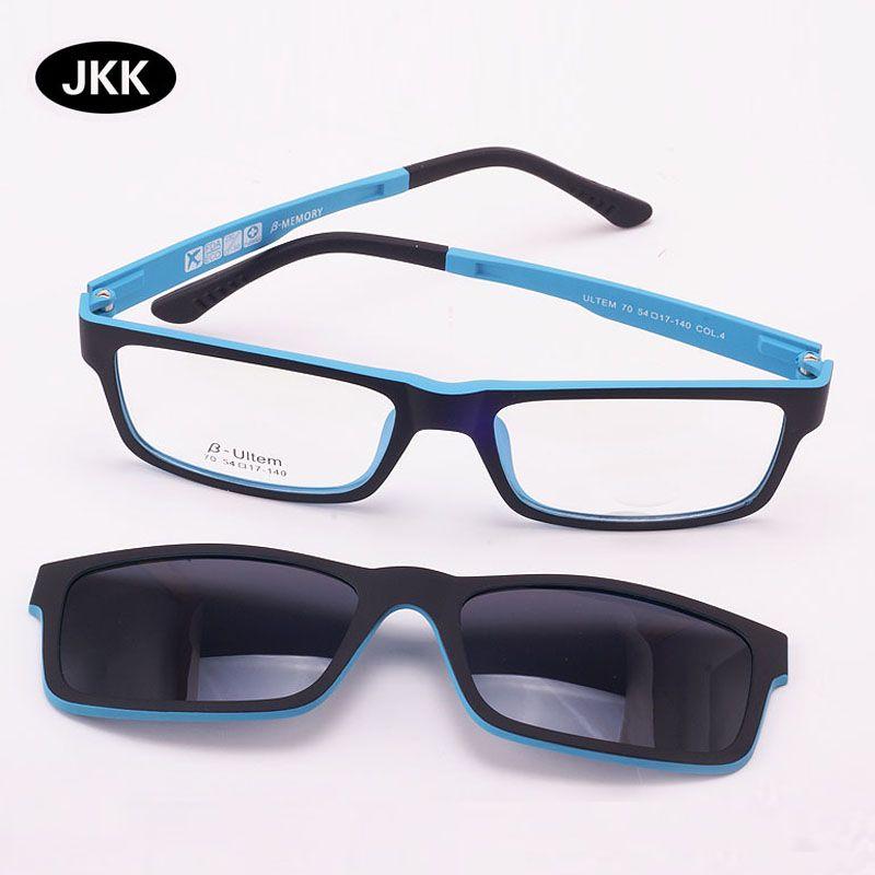Lunettes ultra-légères aimant Clip lunettes de soleil myopie cadre lunettes polarisées fonctionnel 3D lunettes Ultem Uv 400 lunettes jkk70
