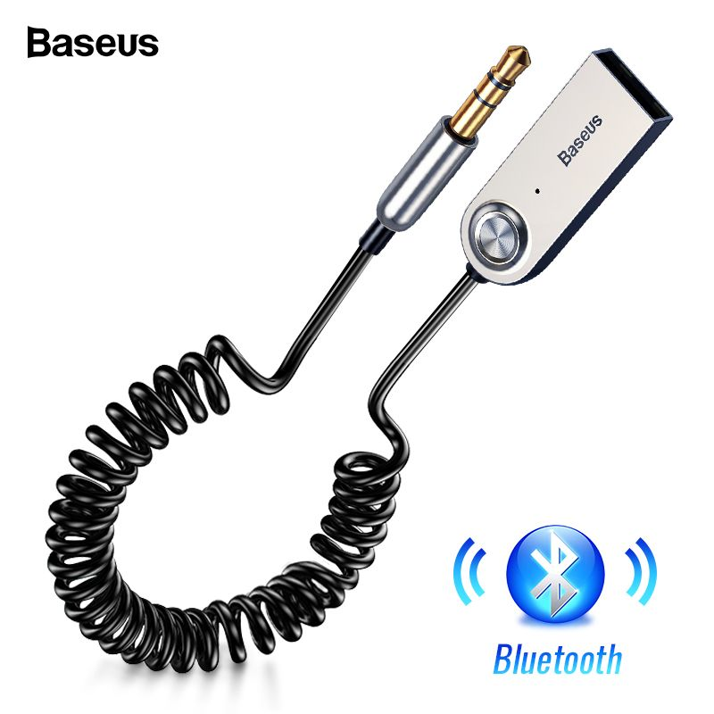Baseus Bluetooth Adapter USB Dongles Cable For Car 3.5mm AUX Bluetooth V5.0 4.2 4.0 Bluetooth Receiver Speaker Audio Transmitter