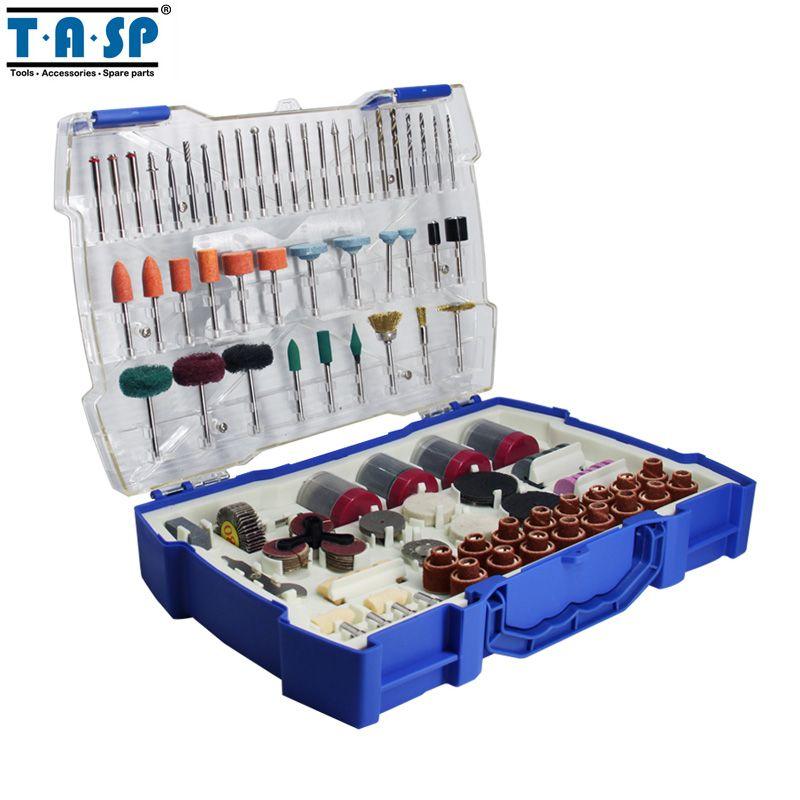 TASP 268 pièces Mini perceuse électrique accessoires Set outils abrasifs pour Dremel outil rotatif ponçage perçage meulage polissage