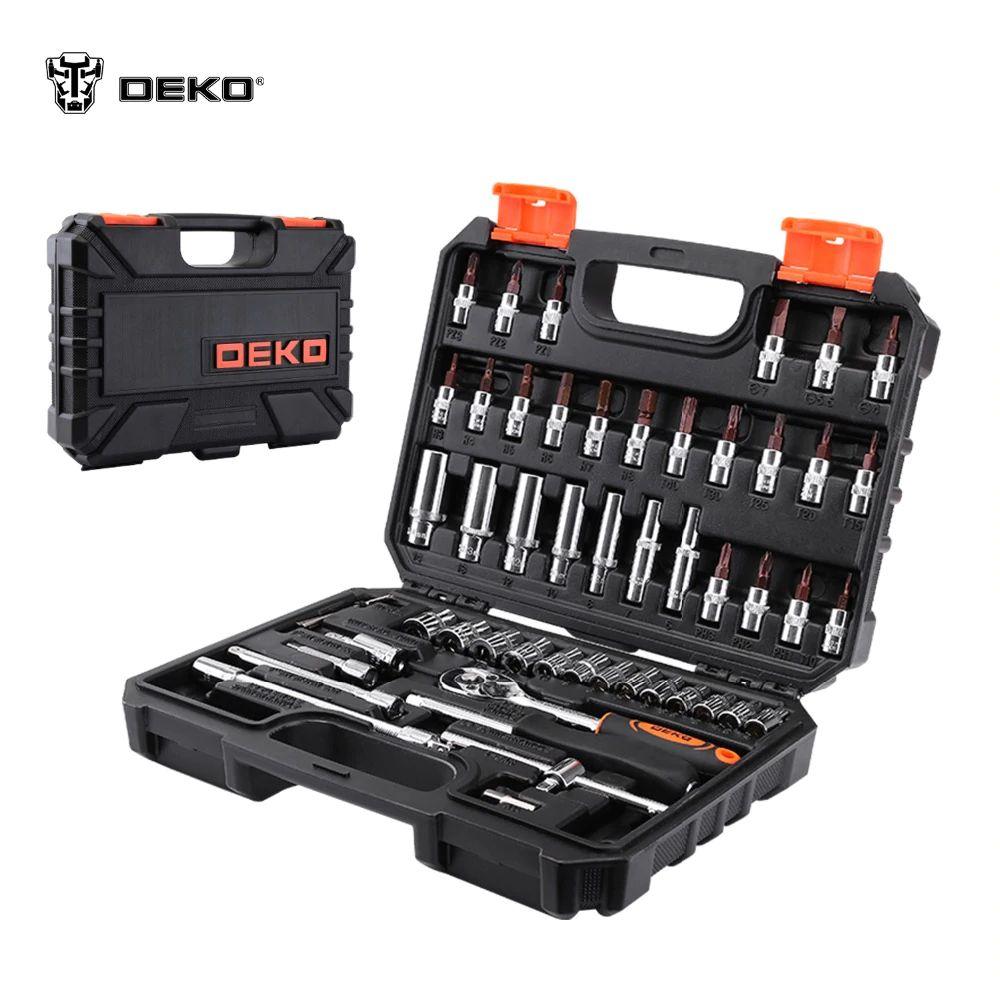 Werkzeug set DEKO TZ53 (53 PCs) werkzeug fall 1/4 Professionelle schraubenschlüssel kopf Set freies verschiffen