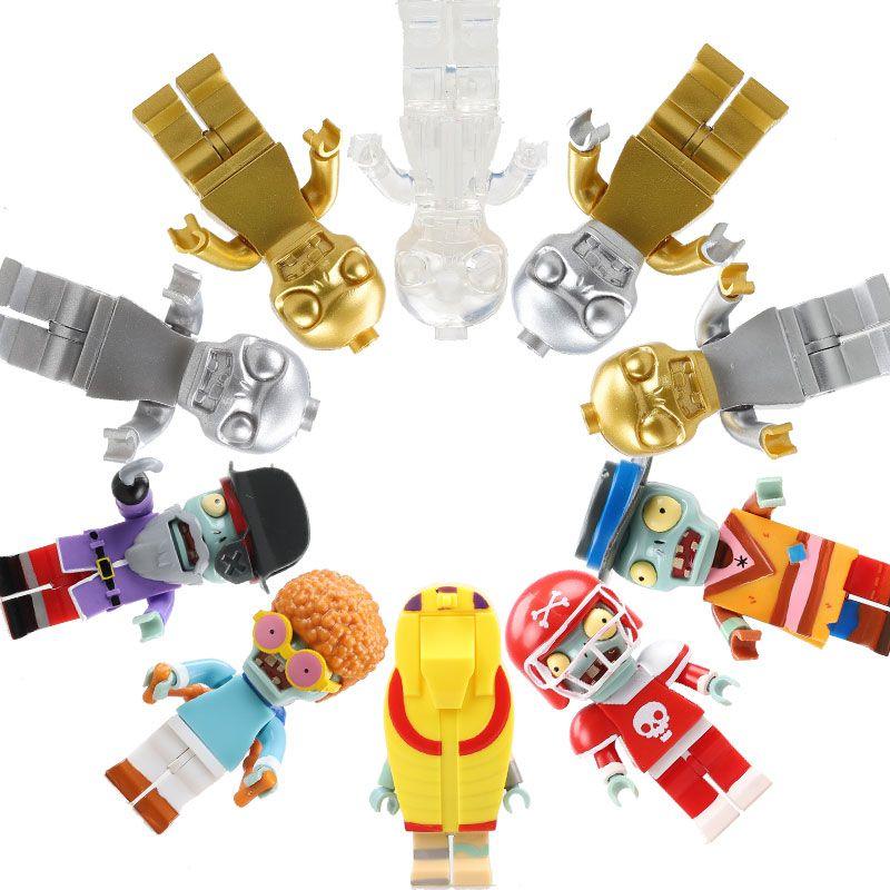 8 pièces PVZ Plants VS Zombies Figurines Jouets Blocs De Construction Jouets de Jeu de Rôle Pour Enfants Compatible Avec LegoING Blocs