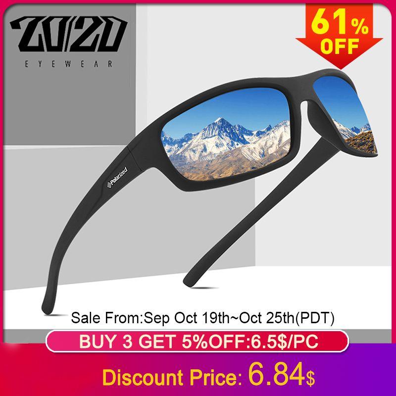 20/20 optique marque Design nouveau polarisé lunettes de soleil hommes mode lunettes pour homme lunettes de soleil voyage pêche Oculos PL66 sans boîte