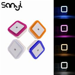 Sanyi Light Sensor Control Night Light Mini EU US Plug Novelty Square Bedroom Lamp For Baby Gift Romantic Colorful Night Light