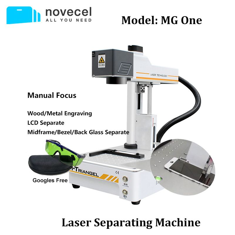 M-Triangel Laser Trennung Maschine Faserlaser Kennzeichnung Maschine für iPhone X Serie 8 Plus Hinten Glas/Bildschirm rahmen Separaten